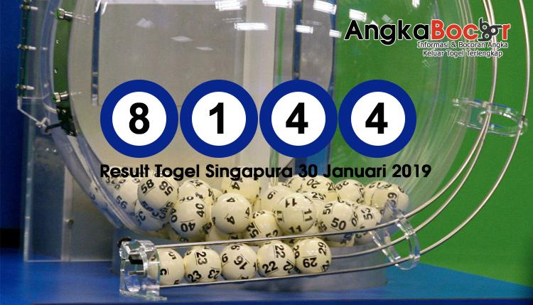 Result Togel Singapura 4D | 30 Januari 2019, Hari Rabu