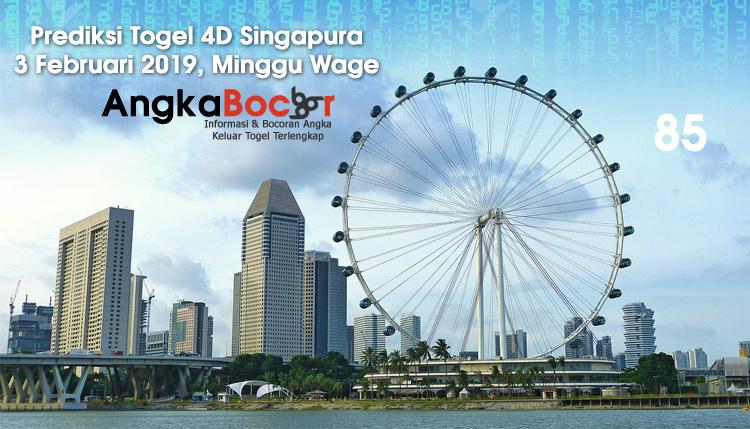Prediksi Togel 4D Singapura | 3 Februari 2019, Minggu Wage