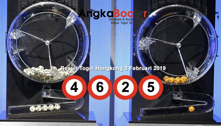 Result Togel Hongkong 4D | 3 Februari 2019, Hari Minggu Angkabocor