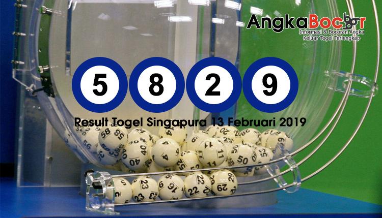 Result Togel Singapore 4D | 13 Februari 2019, Hari Rabu