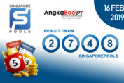 Result Togel Singapore 4D | 16 Februari 2019, Hari Sabtu