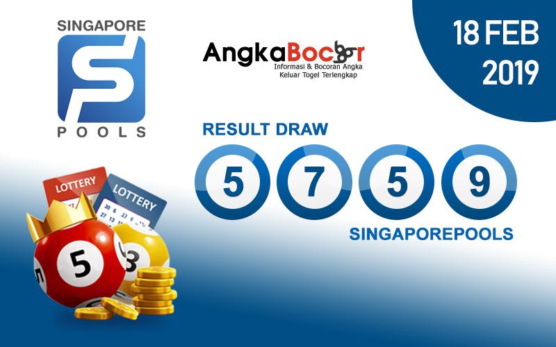 Result Togel Singapore 4D | 18 Februari 2019, Hari Senin