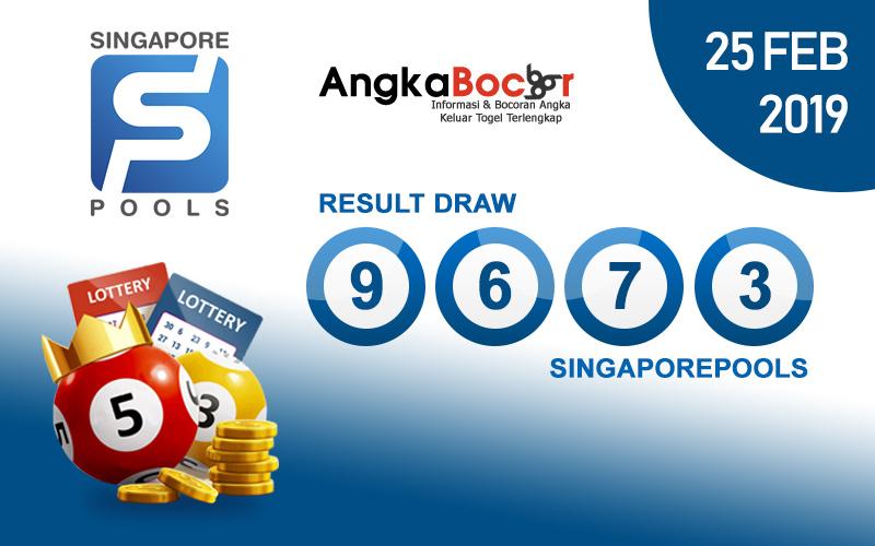 Result Togel Singapore 4D | 25 Februari 2019, Hari Senin