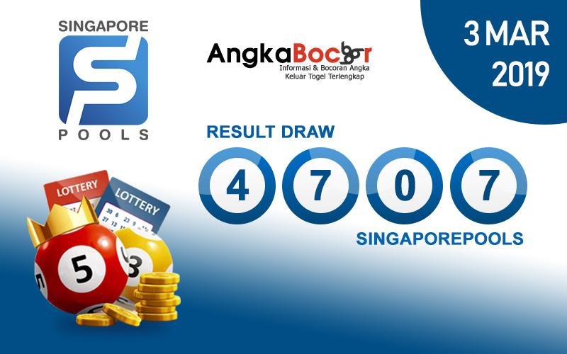 Result Togel Singapore 4D | 3 Maret 2019, Hari Minggu