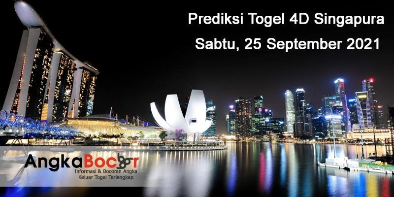 Prediksi Togel SGP Mbah Bondan Terjitu 25 September 2021